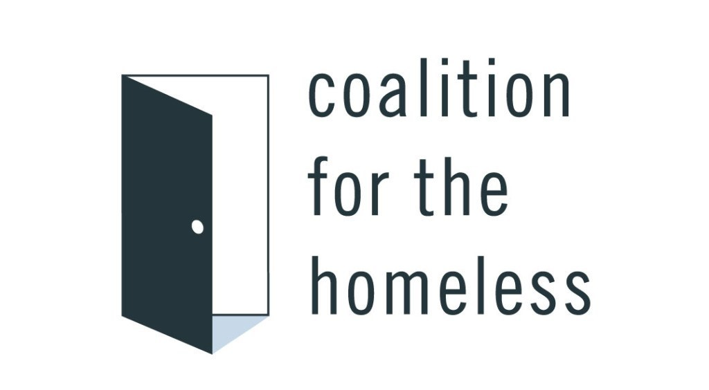 Coalition for the Homeless logo in navy blue on a white background