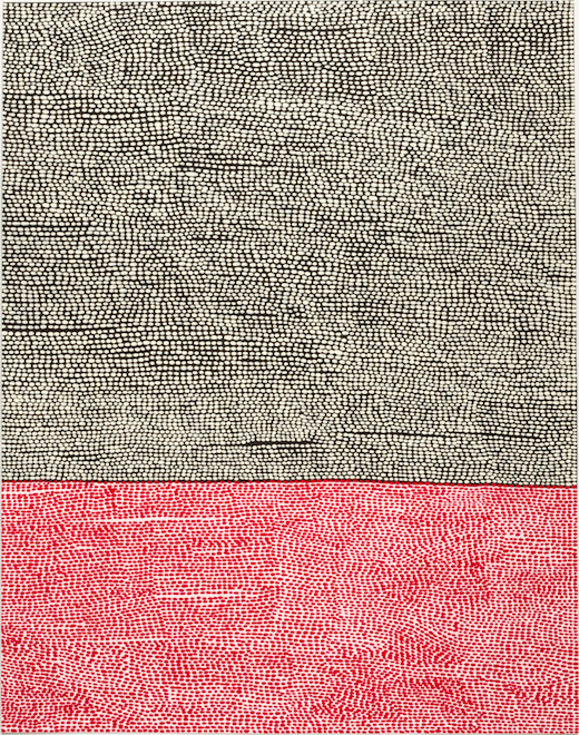 Untitled (NSMF #1 Black White Red + Lilac), 2015