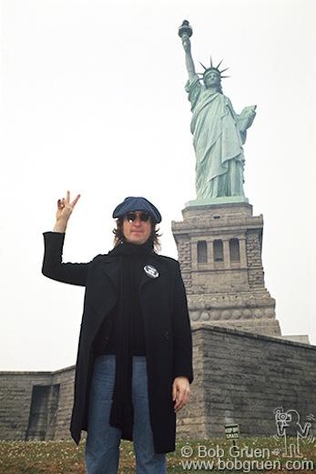 John Lennon, Statue of Liberty, NYC - 1974, 2017