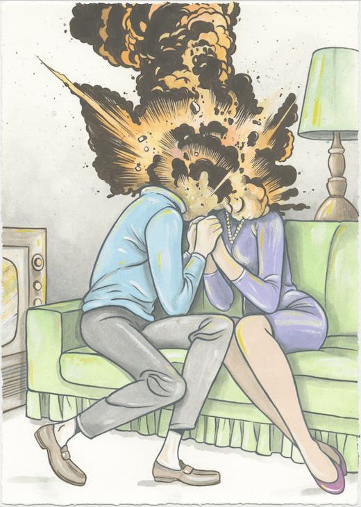 Untitled (Explosive Romance #3), 2017