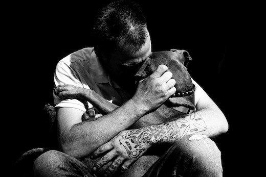 Homeless Man & Dog, 2016